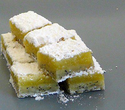 Carrés fondants citron pavot