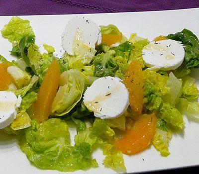 Salade de chèvre à l'orange