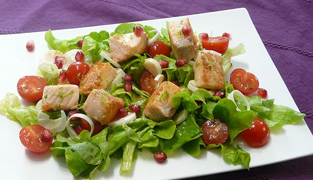 Salade saumon grenade