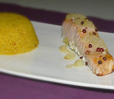 Saumon rôti au citron vert