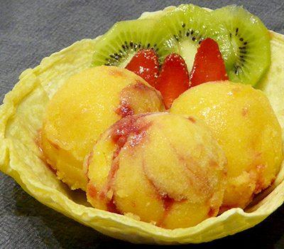 Sorbet mangue framboises