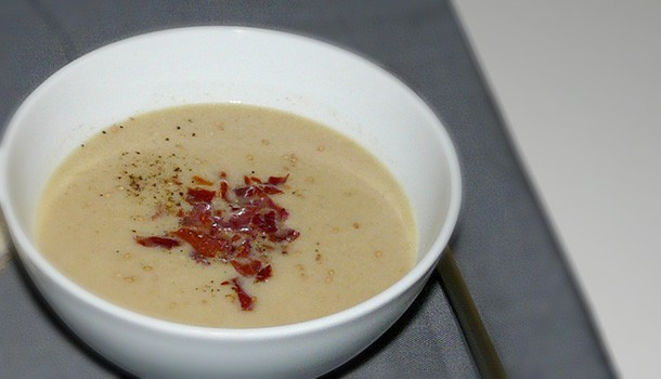 Soupe aux artichauts et au sésame