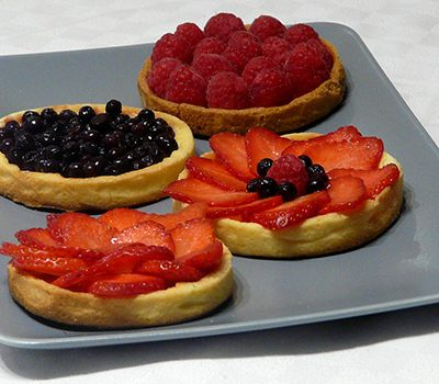 Tartelettes panna cotta fruits rouges