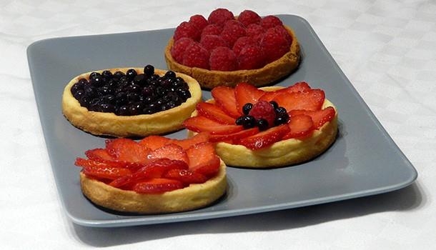 Tartelettes panna cotta fruits rouges