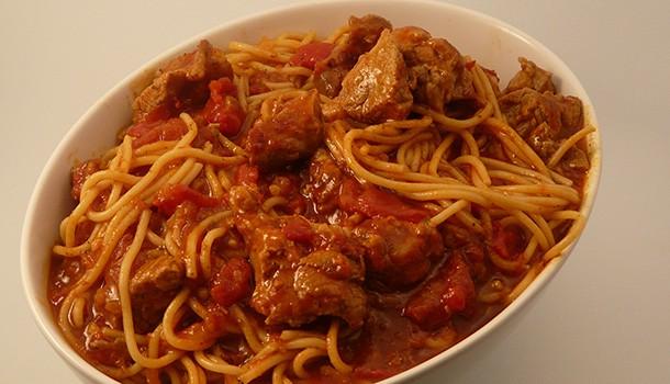 Agneau spaghettis