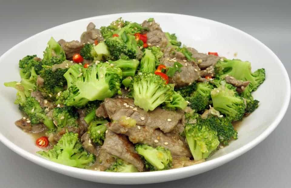 Bœuf sauté au brocolis