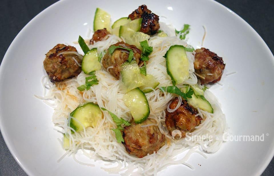 Boulettes de poulet à la vietnamienne