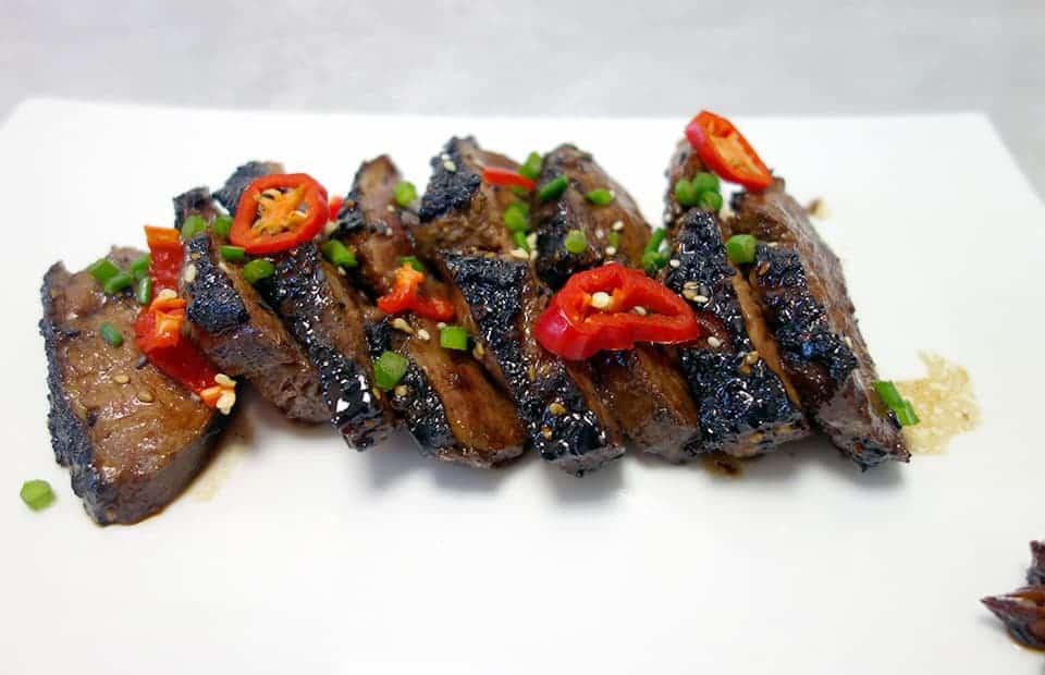 Canard grillé à la coréenne