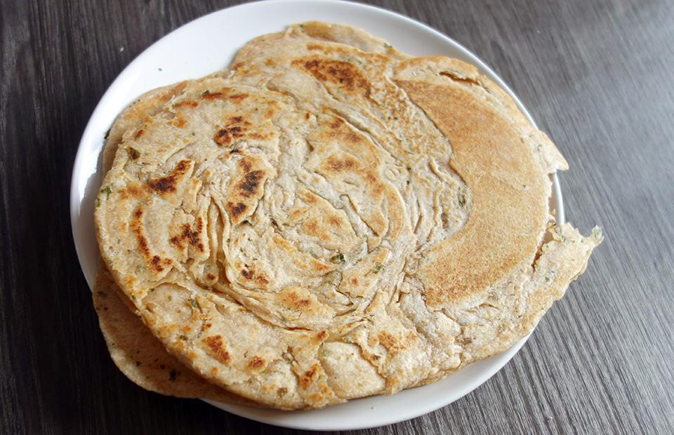 Paratha ail coriandre