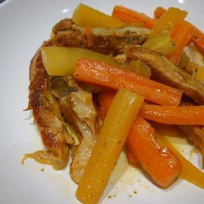 Confit de tendrons de veau aux carottes