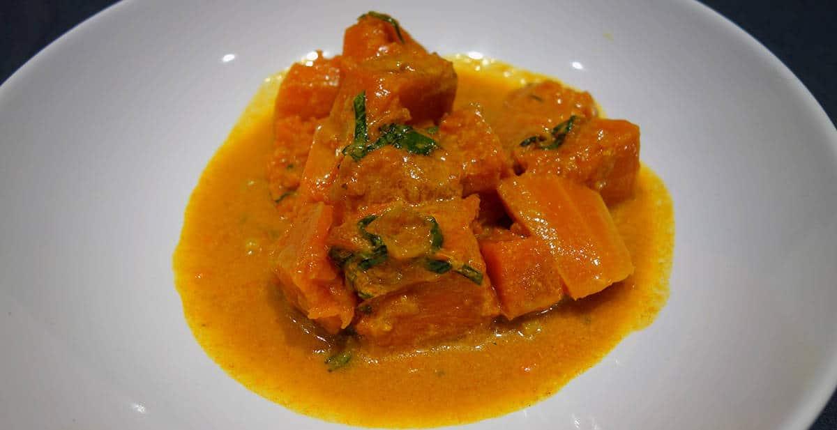 Curry de potiron thaï