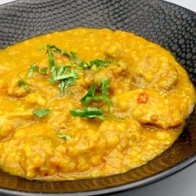 Curry poulet lentilles