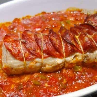 Filet mignon chorizo poivrons