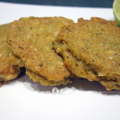 Galettes de lentilles corail au curry