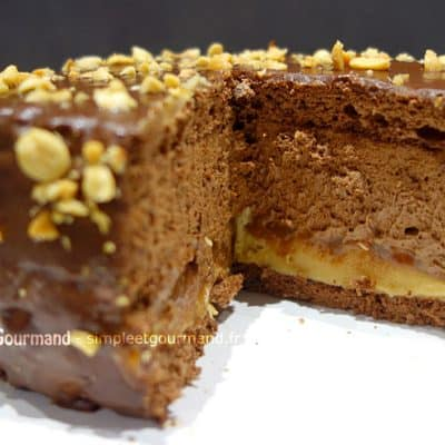 Gâteau chocolat cacahuètes