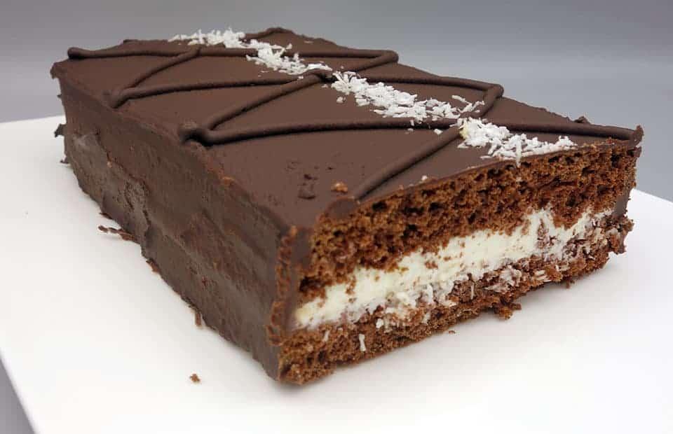 Génoise chocolat coco