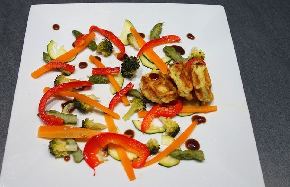Légumes vapeur sauce balsorange
