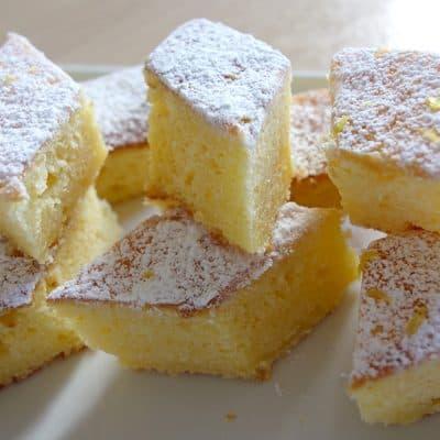 Gâteau moelleux au citron et au mascarpone