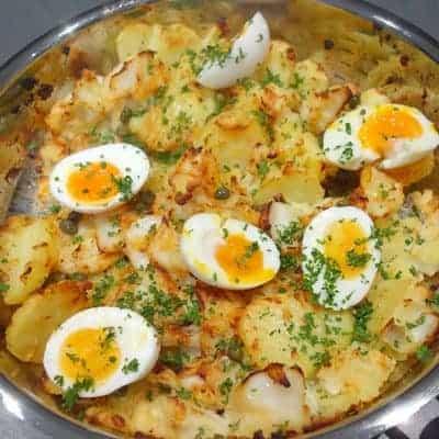 Morue pommes de terre rôties