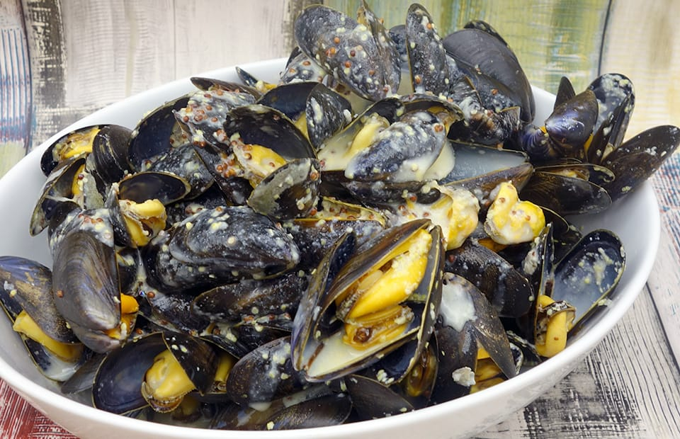 Moules à la moutarde