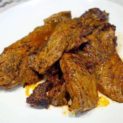 Onglet de veau au paprika