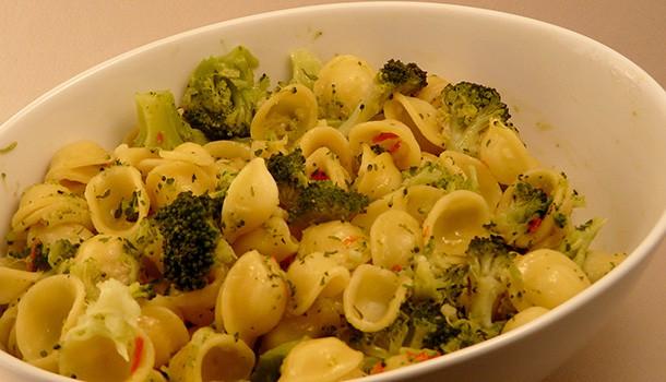 Orecchiettes au brocolis et au piment