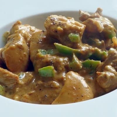 Poulet au curry et au poivre