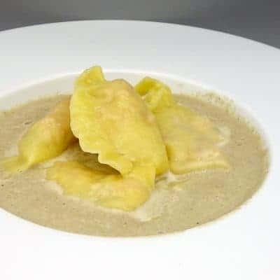Ravioles jambon crème de champignons