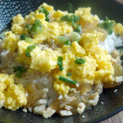 Riz aux oeufs et gelée de bouillon