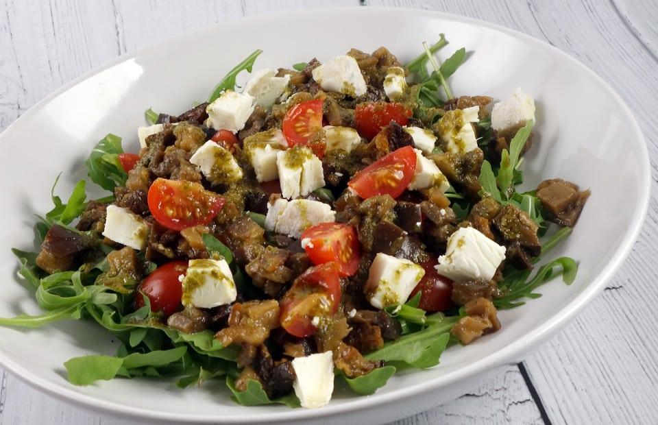 Salade aubergines chèvre