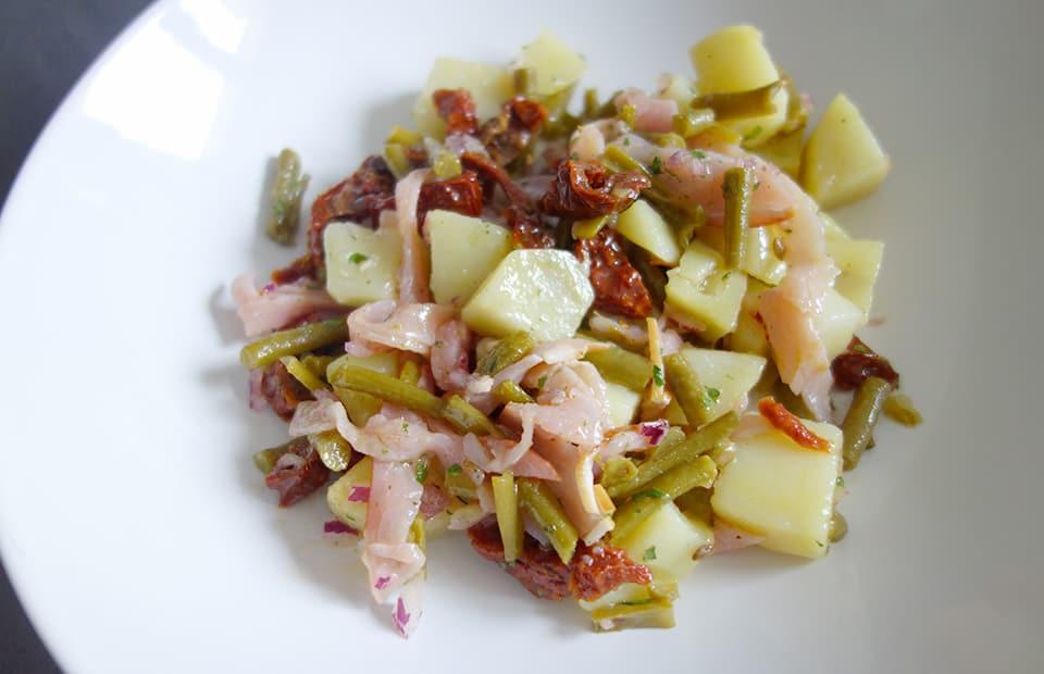 Salade composée haricots verts pommes de terre