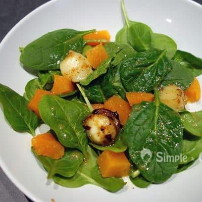 Salade épinards chèvre potiron