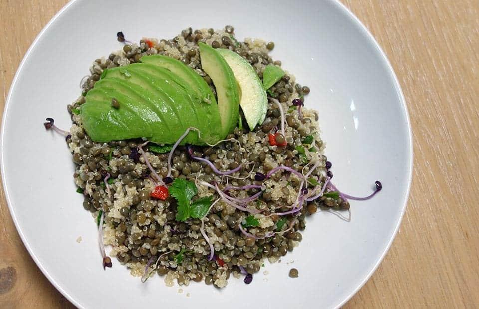 Salade lentilles quinoa