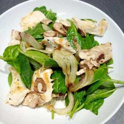 Salade de poulet épinards fenouil