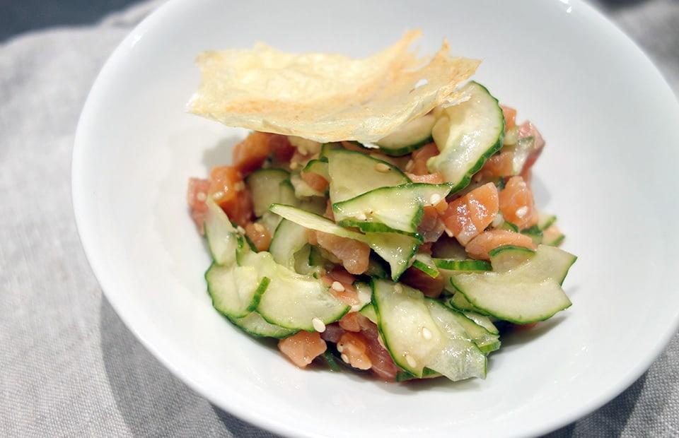 Saumon et concombre façon japonaise