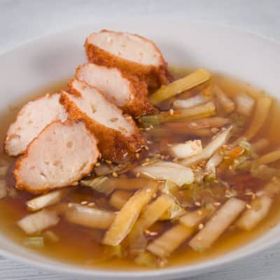 soupe de beignets de poissons coréens
