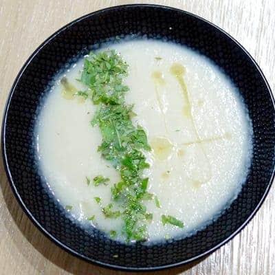 Soupe radis noir et herbes