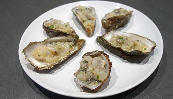 Tartare d'huîtres et de St-Jacques