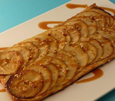 Tarte fine aux pommes sauce caramel