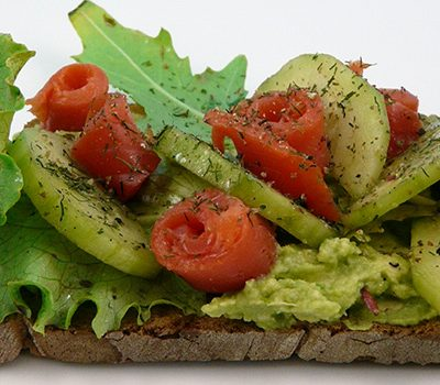 Tartine saumon avocat